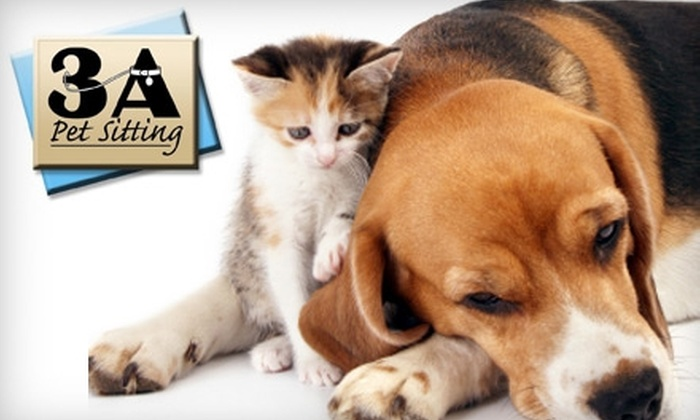 3A Pet Sitting - Central Downtown: $20 for Two 30-Minute Pet-Sitting Visits from 3A Pet Sitting ($44 Value)