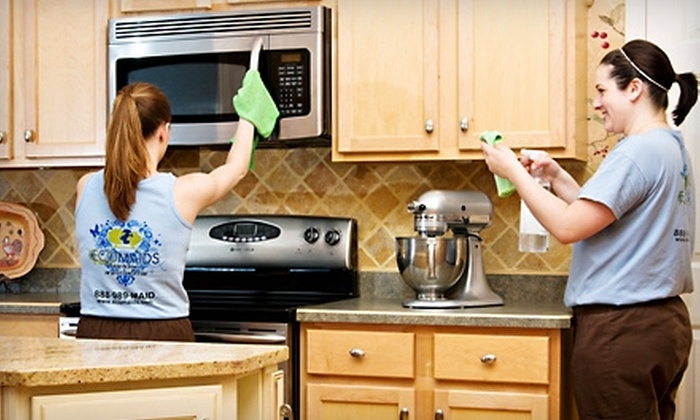 EcoMaids - North Ridgeville: $49 for Environmentally Friendly Cleaning of Kitchen, Living Room, Dining Room, Entryway, Stairs, and Hallways from EcoMaids ($110 Value)