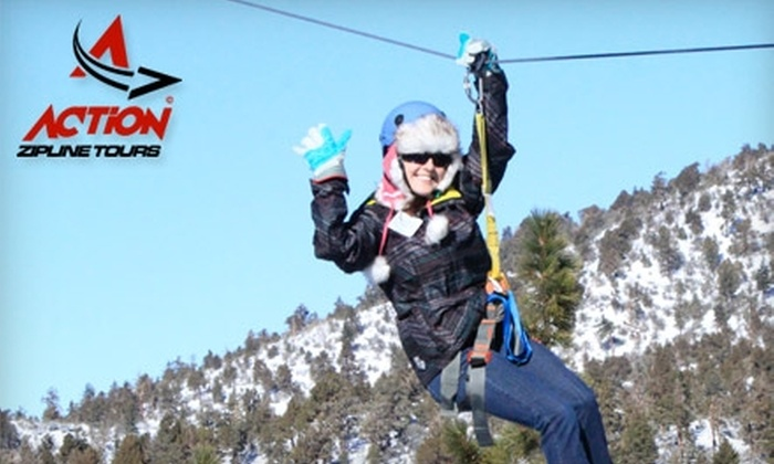 Action Zipline Tours - Big Bear Lake: $45 for an All-Inclusive Zip-Line Tour at Action Zipline Tours (Up to $95 Value)
