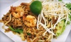 Sabaidee  Restaurant - Lowe Plaza: Lao-Thai Dinner with Wine for Two or Four at Sabaidee Restaurant (Up to 51% Off)