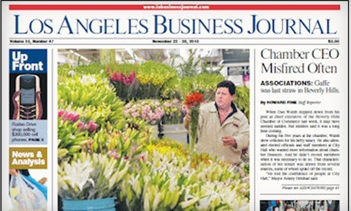 """Los Angeles Business Journal: $30 for One-Year Subscription to the """"Los Angeles Business Journal"""" ($99.95 Value)"""