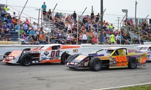 Lake County Speedway: Admission to a Stock-Car Race for Two or Four at Lake County Speedway (Up to 52% Off)