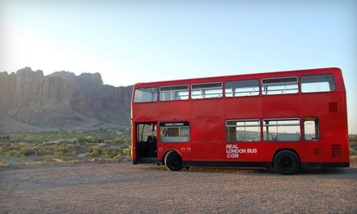 Real London Bus Company - Downtown Phoenix: $18 for One Admission to Real London Bus Company ($40 Value). Three Tour Options Available.