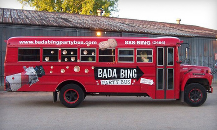 Bada Bing Party Bus - Downtown Winnipeg: Four-Hour Red or Black Bus Party Excursion for Up to 25 People from Bada Bing Party Bus (Up to 52% Off)
