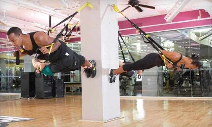 Crunch - AU Park - Friendship Heights - Tenley: $19 for a One-Month Gym Membership and One Personal Training Session at Crunch (Up to $145 Value)