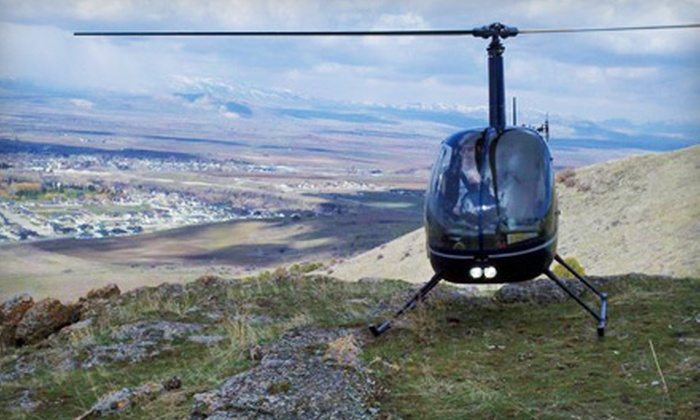 Mountain Ridge Helicopters - Bridger: Intro to Flight Lesson or Mountain Helicopter Tour for Two from Mountain Ridge Helicopters in Logan