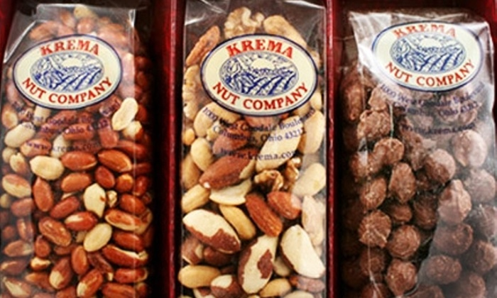 Krema Nut Company - Grandview Heights: $10 for $20 Worth of Peanut-Inspired Goods at Krema Nut Company