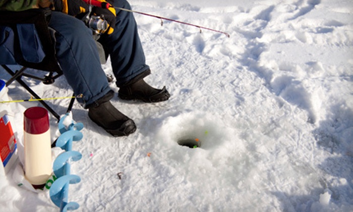 Blue Ribbon Outdoors - Madison: All-Inclusive Ice Fishing Outing for Six or Guided Ice-Fishing Adventure for Eight from Blue Ribbon Outdoors (Up to 57% Off)
