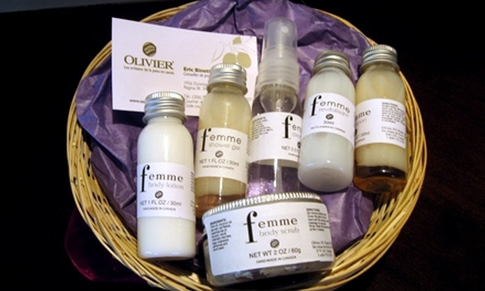 The Olivier Soapery - Regina: $25 for a Facial Basket ($51.15 Value) or $25 for a Body Basket ($50.05 Value) from The Olivier Soapery
