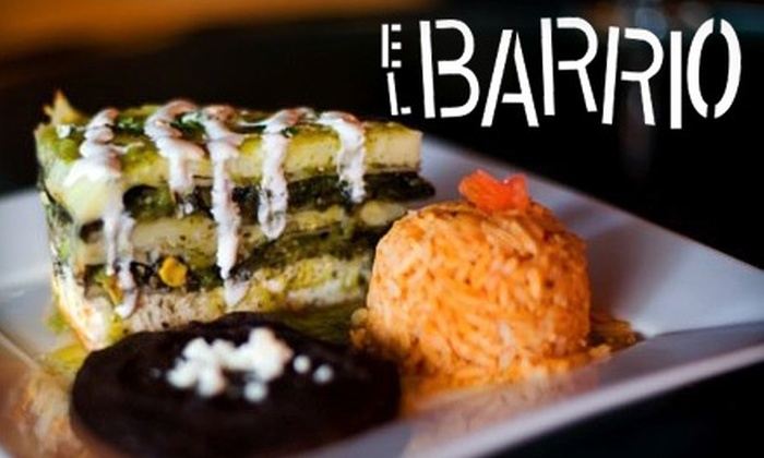 El Barrio - Hastings-Sunrise: $15 for $30 Worth of Upscale Mexican Cuisine at El Barrio ($35 Worth if Redeemed Tuesday–Thursday)