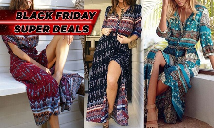 $19 for One or $34 for Two Boho Printed Maxi Dresses