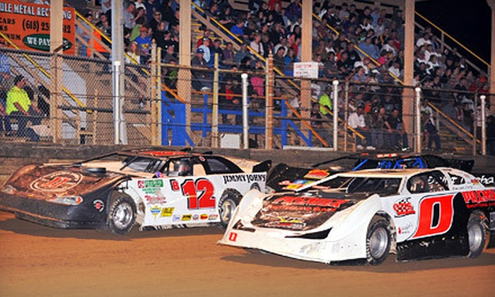 Belle-Clair Speedway - Belleville: $39 for Racing Event for Four with Four Corn Cups and One T-shirt at Belle-Clair Speedway in Belleville (Up to $84 Value)