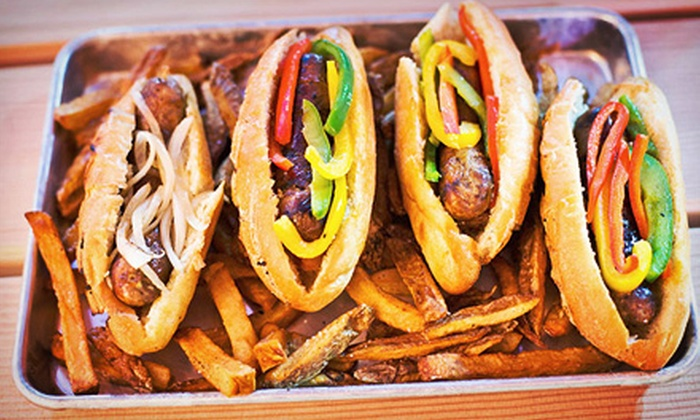 Fatshorty's - Clarendon - Courthouse: $10 for $20 Worth of Sausages and Drinks at Fatshorty's