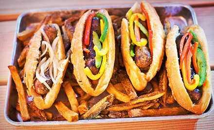 $10 for $20 Worth of Sausages and Drinks at Fatshorty's