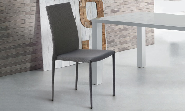 Sedie Schienale Alto Economiche : Set di sedie impilabili groupon goods