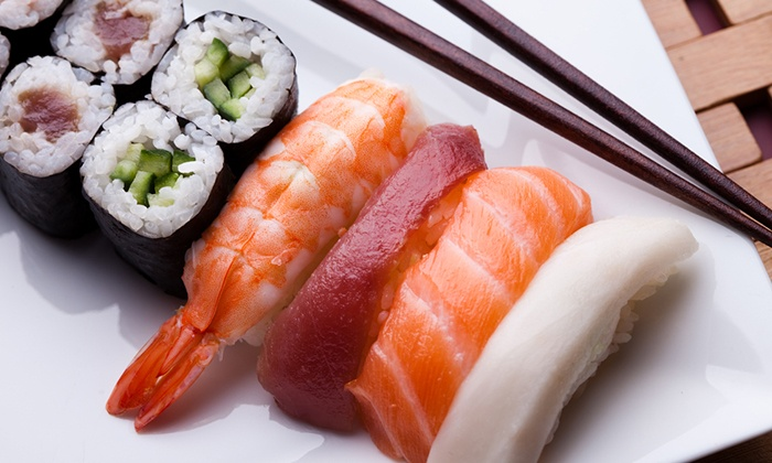 Cucumber Sushi and Salad Bar - Cucumber Sushi: Sushi Meal for Two or Four with Soups, Salads, and Coffees at Cucumber Sushi and Salad Bar (Up to 58% Off)
