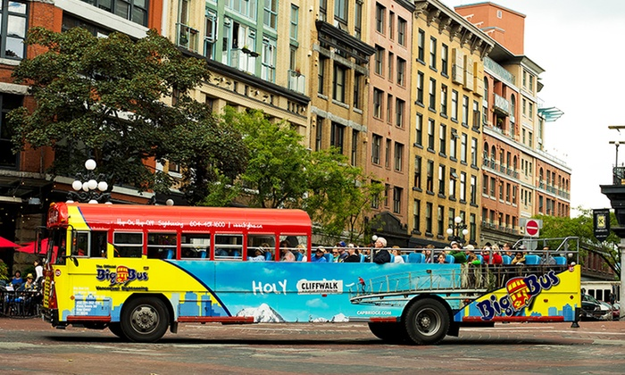 Big Bus Ltd. - Vancouver: One-Day Unlimited Hop-On, Hop-Off City Bus Tour for One or Two from Big Bus Ltd. (Up to 46% Off)