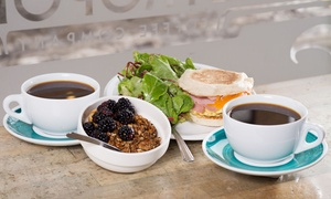 Metropolis Coffee Company: Breakfast for Two or Three Groupons, Each Good for $5 Worth of Coffee and Café Items at Metropolis Coffee Company