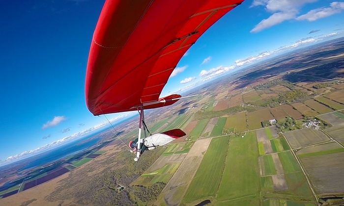 Fly Gravity Sports  - East Gwillimbury: Tandem Hang-Gliding or Intro to Hang-Gliding Course at Fly Gravity Sports (Up to 50% Off)