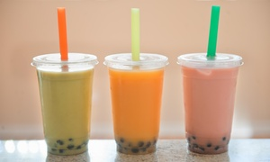 Tazza Coffee: One Large Boba Drink  with Purchase of 2 Large Boba Drinks  at Tazza Coffee