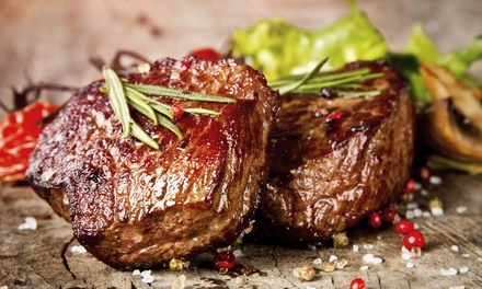 28-Day Matured Sirloin or Ribeye Steak with Wine for Up to Four at Bazil Brasserie (Up to 69% Off)