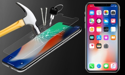 One, Two, Three or Four Tempered Screen Protectors for iPhone X