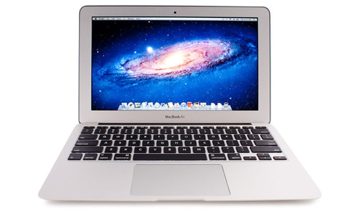 apple macbook air 11 qwerty reconditionn groupon shopping. Black Bedroom Furniture Sets. Home Design Ideas