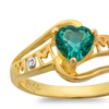 Created Emerald and Diamond MOM Ring