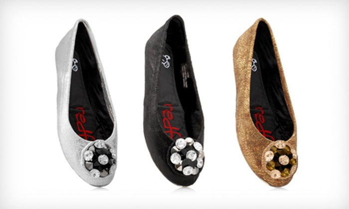 $19 for Redfoot Marsha Foldable Flats in Black, Gold, or Silver ($80 List Price). Three Sizes Available.