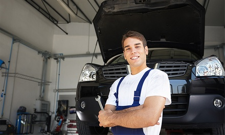Safety Inspection, Emissions Test, or Both with Renewal Sticker at Grease Monkey (Up to 62% Off)