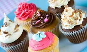 The Cake Shop: 12 or 24 Gourmet Cupcakes at   The Cake Shop (50% Off)