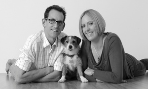 TIME Associates: Pet and Family Photoshoot With Framed Print for £19 at Barrett & Coe (88% Off)