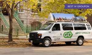 GO Airport Express: One-Way Transportation to or from Midway or O'Hare from GO Airport Express (Up to 44% Off)