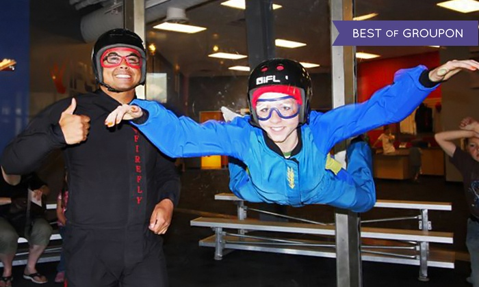 Flowrider and iFly - Downtown Ogden: Indoor Skydiving, Surfing, and Rock Climbing for One or Two at Flowrider and iFly (Up to 44% Off)