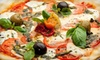 The Loop Pizza Grill - Chapel Hill: Pizza Dinner with Salads and Drinks for Two or Four at The Loop Pizza Grill in Chapel Hill (Up to 56% Off)