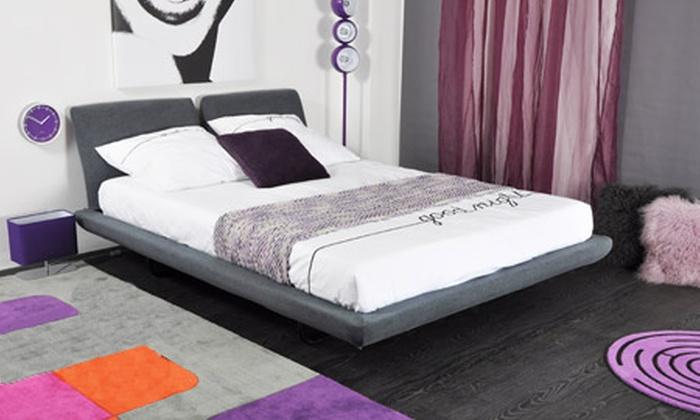 lit butterfly avec ou sans sommier et matelas m moire de forme groupon shopping. Black Bedroom Furniture Sets. Home Design Ideas