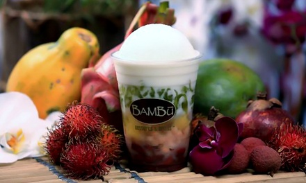 $12 for Four Groupons, Each Good for $5 Worth of Treats at BAMBU Desserts and Drinks ($20 Value)