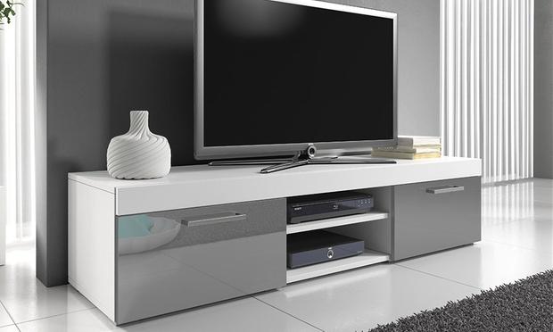 mambo gloss tv cabinet groupon goods. Black Bedroom Furniture Sets. Home Design Ideas