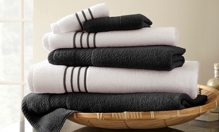 Quick-Dry 6-Piece 100% Combed Cotton Towel Set
