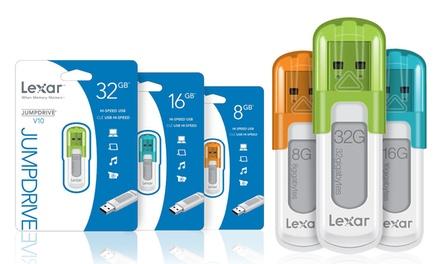 Uma ou duas pendrive USB Lexar V10 de 8, 16 ou 32 GB desde 5,90€