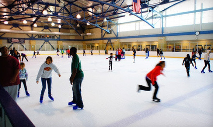 Kroc Center Ice - San Diego : Ice-Skating with Skate Rentals for Two or Four at The Salvation Army Kroc Center Ice (Up to Half Off)
