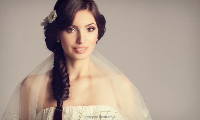 Mariá Noivas - Belo Horizonte: Mariá Noivas – Santa Inês: aluguel vestido de noiva e véu (opção tiara e sapato), a partir de 12x sem juros de R$ 41,59
