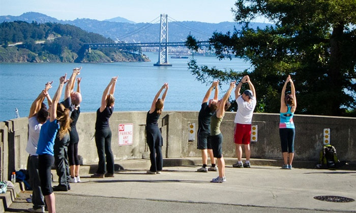 Hiking Yoga - Multiple Locations: Yoga Hike for One from Hiking Yoga (Up to 50% Off)