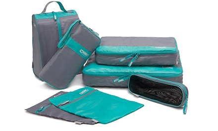 Seven-Piece Travel Bags Organiser Set in Choice of Colour from AED 99 (Up to 67% Off)