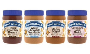 Peanut Butter & Co.: $12 for Four Jars of Peanut Butter at Peanut Butter & Co. (Up to $24 Value)