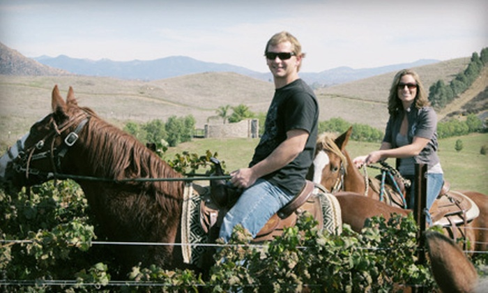 Wine Country Trails by Horseback - Temecula Wine Country : 90-Minute Horseback Tour and Wine Tasting for One or Two from Wine Country Trails by Horseback (Up to 61% Off)