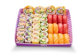 """Eat sushi Lyon 2ème:  menu """"Eat 40"""", ou 2 plateaux """"Sushi/Yaki"""" et 1 plateau """"California"""", dès 13 € chez Eat Sushi Lyon 2ème"""