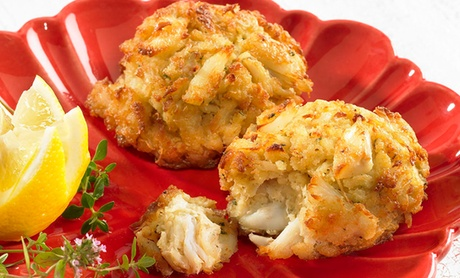 6-Pack Blue Crab Trading Crab Cakes. Multiple Flavors and Sizes Available from $29.99–$59.99.