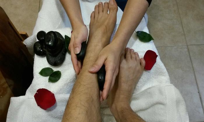 Hai Hair Design Studio - Washington: 30-Minute Hot-Stone Foot Massage or Signature Body Massage at Hai Gloss Nail and Beauty Spa (Up to 47% Off)
