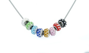 10.00 CTTW Crystal Bead Necklace with Swarovski Elements
